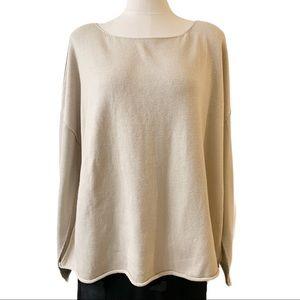 Eileen Fisher Wool Crepe Box Top Sweater